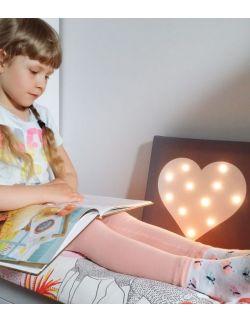 ŚWIECĄCY obraz SERCE dowolny kolor lampka dla dziecka dekoracja