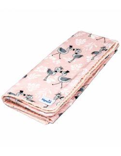 """Kocyk Minky """"Różowe Flamingi"""""""