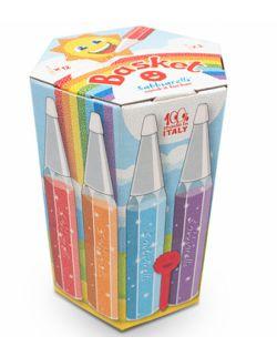 Zestaw 12 kolorowych pisaków z magicznym piaskiem do kolorowania 3l+ SABBIARELLI