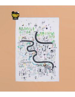 Mata edukacyjna | z wodoodpornym spodem | Urodziny w Zoo | 100x150 cm