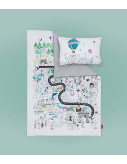 Pościel dla dziecka komplet | Zoo | 100x140 i 40x60 cm