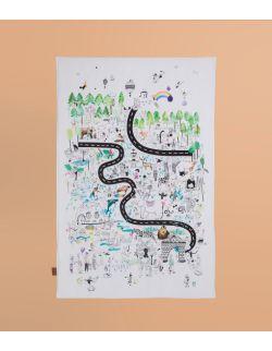 Mata edukacyjna miękka/Narzuta | Zoo| 100x150 cm