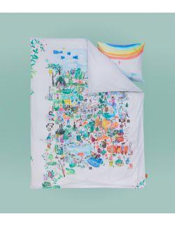 Pościel dla dziecka i dorosłego komplet | dzikiedzieci | 150x200 i 50x60 cm