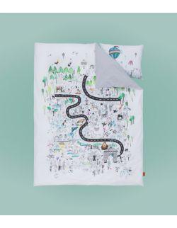Pościel dla dziecka i dorosłego komplet | Zoo | 150x200 i 50x60 cm
