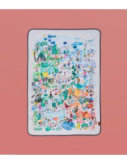 Kocyk bawełniany | dzikiedzieci| 100x150 cm