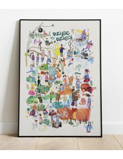 plakat do pokoju dziecka | 50 x 70 | dzikiedzieci