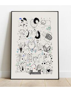 plakat do pokoju dziecka | 50 x 70 | Przyjaciele