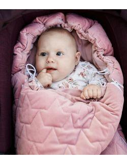 Be velvet! Śpiworek zimowy - brudny róż (newborn 0-12mcy)