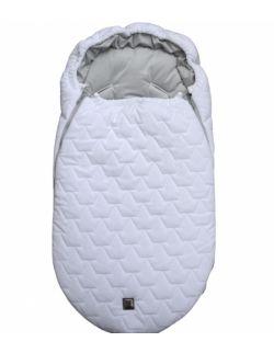Be velvet! Śpiworek zimowy - biały (newborn 0-12mcy)