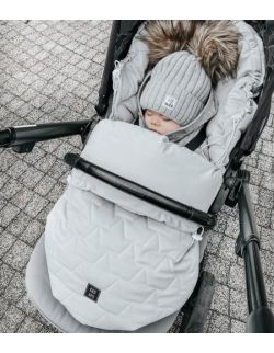 Be velvet! Śpiworek zimowy - szary (newborn 0-12mcy)