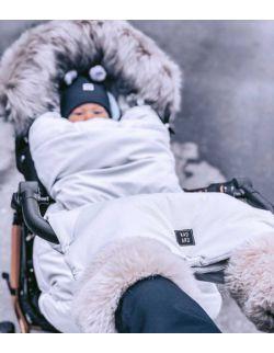 Be velvet! Śpiworek zimowy - Silver (newborn 0-12mcy)
