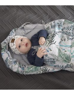 Śpiworek zimowy Paprocie (newborn 0-12mcy)