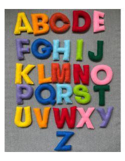 Alfabet filcowy - tęczowy