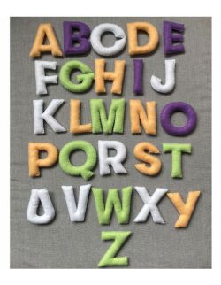 Alfabet filcowy - pastele