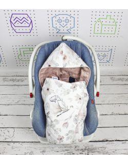 Kocyk do nosidełka i fotelika samochodowego Magnolia 5 PKT