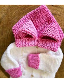 Uszatek kombinezon zimowy dla dziewczynki różowy