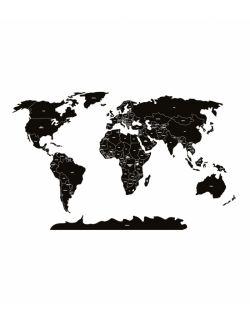 Naklejka MAPA polityczna -czarna L ( 175x110 cm )