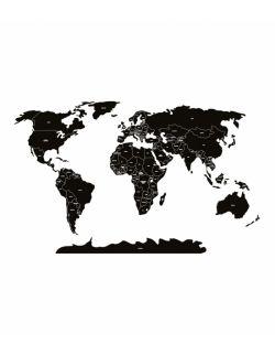 Naklejka MAPA polityczna -czarna M ( 130x85 cm )