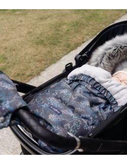 Regulowany śpiworek Grow up do wózka i fotelika z pluszem - Geo graphite