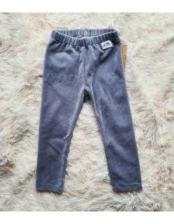 Spodnie velvet szare