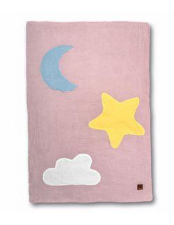 Hi Little One - Kołderka, mata, kocyk z oddychającej BIO bawełny organicznej GOTS Day & Night Blush