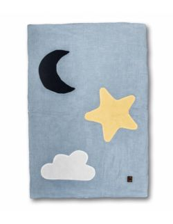 Hi Little One - Kołderka, mata, kocyk z oddychającej BIO bawełny organicznej GOTS Day & Night BABY BLUE