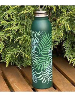 Butelka termiczna ze stali nierdzewnej Green leaves 0,6l H&H LIFESTYLE