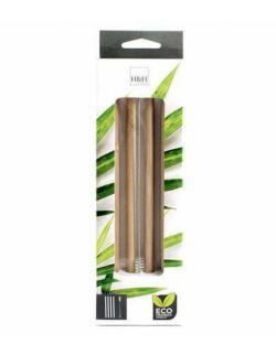 Słomki bambusowe do napojów + szczoteczka 4 szt. H&H LIFESTYLE