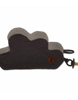 Hi Little One - Przytulanka dou dou z zawieszką z organicznej BIO bawełny GOTS cozy muslin pacifier keeper Iron