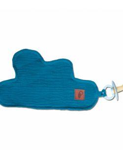 Hi Little One - Przytulanka dou dou z zawieszką z organicznej BIO bawełny GOTS cozy muslin pacifier keeper Emerald