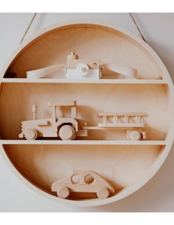 Drewno półka okrągła