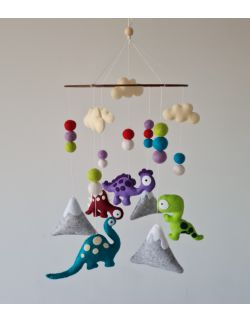 Karuzela nad łóżeczko dziecięce 'Świat Dinozaurów'