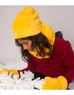 Czapka żółta zima