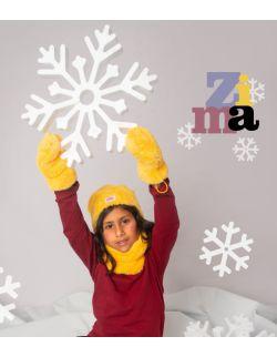 rękawiczki żółte zima