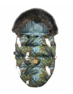 Śpiworek Zimowy Z Futrem Khaki Tropical Velvet S/M (0-1 Roku)