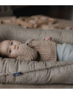 Kokon / Gniazdko niemowlęce Grey leaves