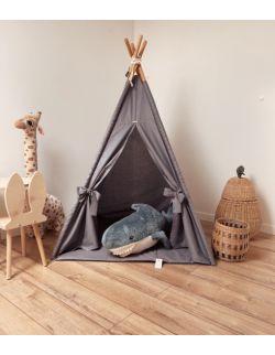 Tipi namiot dziecięcy - Grafitowa certyfikowana bawełna OH BABE