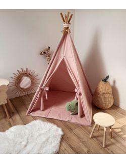 Tipi namiot dziecięcy - Różowa certyfikowana bawełna OH BABE