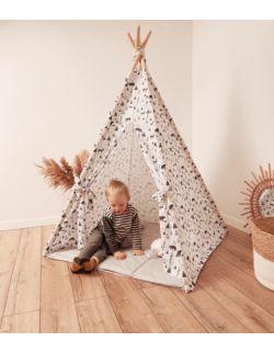 Tipi namiot dziecięcy - Biała bawełna i las OH BABE