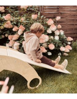 Drewniany bujak dziecięcy ROCKER 3w1 - bujak, drabinka, zjeżdzalnia OH BABE