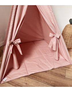 Mata do tipi dziecięcego - Różowa certyfikowana bawełna OH BABE