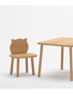 Stolik i 2 krzesełka kotki - buk