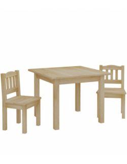 Zestaw stolik i 2 krzesełka- naturalny