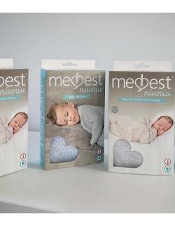 """otulacz wiązany dla noworodka Medbest """"NIUNIU"""" (5,5-9 kg / 0-3 m)"""