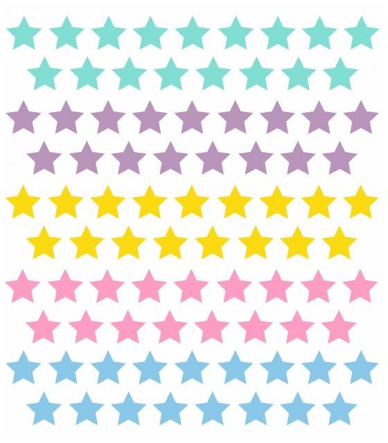 """Gwiazdki kolorowe - """"JEDNOROŻEC"""" naklejka ścienna"""