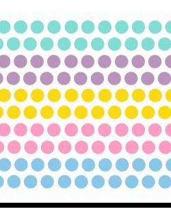 """Kropki kolorowe - """"JEDNOROŻEC"""" naklejka ścienna"""