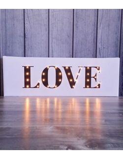 ŚWIECĄCY NAPIS LOVE dekoracja lampka prezent dla dziecka sesja fotograficzna