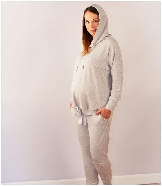 Bluza do karmienia i ciążowa- SZARY- kolekcja PLEASURE