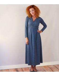 Sukienka MAXI blue chrome- kolekcja PLEASURE