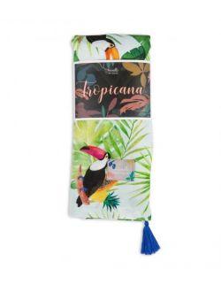 Otulacz bambusowy Tropicana Jungle Navy 120x120